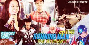 Episode 150 The Avengers My Running Man Myrm Running man (korean tv show); episode 150 the avengers my